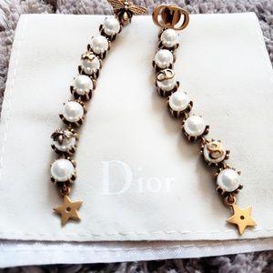 Dior Faux Pearl Drop Earrings